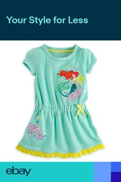 f632ecf8c103e Disney Store Princess The Little Mermaid Ariel Girl Swimsuit Cover Up Size  56