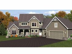 Colonial House Plan with 2324 Square Feet and 3 Bedrooms(s) from Dream Home Source   House Plan Code DHSW75160