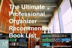 Recommended book list for new organizers