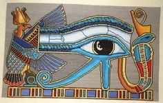 Cross Stitch Ancient Egypt Powerful Sacred Symbol The Eye of Horus Wadjet Ujat | eBay
