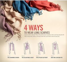 4 ways to wear long scarves