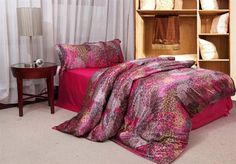 luxurious imitated silk fabric girls bedding set rosy phoenix feather print bed in a bag queen/full duvet covers sets bed linens Girls Bedding Sets, Cheap Bedding Sets, Queen Bedding Sets, King Size Duvet Covers, Full Duvet Cover, Duvet Cover Sets, Satin Sheets, Linen Sheets, Flat Sheets