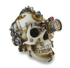 Mr Steampunk One — Erasmus Darwin`s Steam Cerebrum Steampunk Skull...