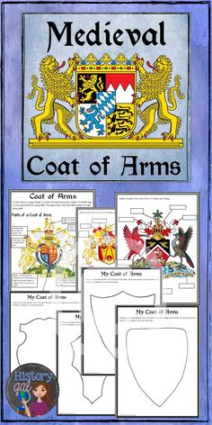 $ Teach your students about Medieval Coat of Arms with this activity. Students will learn about the parts of a coat of arms and then label two different coat of arms. The activity concludes with having students create either a coat of arms or shield elements.