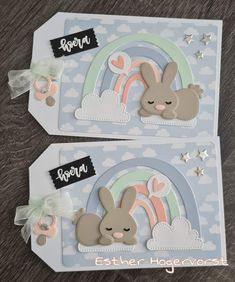 Birthday Wishes Gif, Marianne Design, General Crafts, Baby Scrapbook, Baby Cards, Paper Cutting, Stampin Up, Embellishments, Bunny