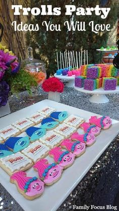 birthday party decorations 173810866855448368 - Trolls Birthday Party Ideas- from food to favors to decorations. I love the rainbow sparkle fun theme for kids parties! Trolls Birthday Party, Kids Birthday Themes, Troll Party, Kids Party Themes, Third Birthday, 4th Birthday Parties, Birthday Party Decorations, Party Ideas, Party Favors