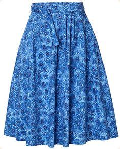 Pleated, wide summer skirt by Swedish company Jumperfabriken.