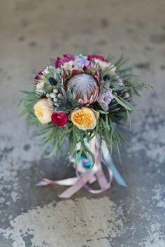 Artistic #wedding bouquet | Adonye Jaja Photography | see more on: http://burnettsboards.com/2014/03/8-artistic-bridal-styles/