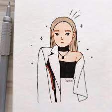 Cute Drawings Of Love, Mini Drawings, Girly Drawings, Pencil Art Drawings, Cool Art Drawings, Desenhos Love, Drawings For Boyfriend, Girl Drawing Sketches, Mini Canvas Art