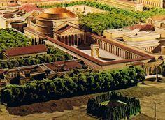 Plan de Rome Architecture Antique, Chinese Architecture, Architecture Drawings, Classical Architecture, Historical Architecture, Ancient Rome, Ancient History, Roman Pictures, Architecture Romaine