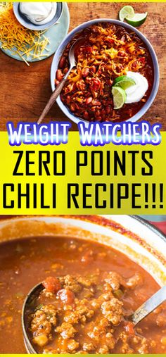This delicious Zero Point Chili is a perfect Weight Watchers dinner recipe if you are looking for a tasty and filling meal but haven't got the Smart Points to spare. It is zero SmartPoints on Weight W Weight Watchers Chili, Weight Watcher Desserts, Weight Watchers Meal Plans, Weight Watchers Breakfast, Weight Watcher Dinners, Weight Watchers Quiche Recipe, Weight Watchers Recipes With Smartpoints, Weight Watchers Smart Points, Ww Recipes