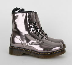 1460 8-Eye Boot - Pewter Koram Flash #Docs #shiny