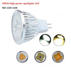 1PCS MR16 12V LED Bulb 9W 12W 15W  MR16  Spot Light LED  Light  White/Warm White LED lamp