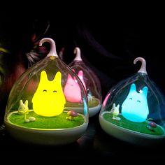 Novel Birds LED Night Light Wall Night Desk Lamp with Sticker - Yellow