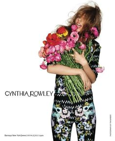 Flower-Licking Fashion Ads The Cynthia Rowley Spring 2012 Campaign Stars Kristina Kulyk #spring #flowers #kristinakulyk