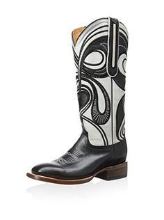 4bca6e154512 Lucchese Women s Hypnotic Swirl Boot (Black Bone)