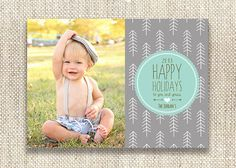 Hipster Trees Holiday Photo Card / 5x7 Double by CityBeeDesign, $75.00