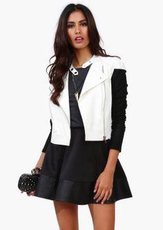 Fishnet Leather Jacket
