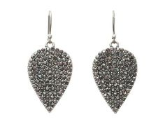 Lucky Brand Icicle Pave Guitar Pick Earrings