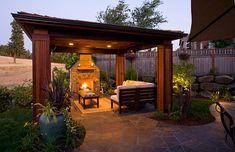 Outdoor Structures, backyard Gazebos and covered landscape | Landscape Structures Design and Build | Big Sky Landscaping