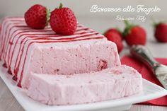 Bavarese alle Fragole - Dolcissima Stefy Mousse, Cheesecakes, Gelato, Fun Desserts, Vanilla Cake, Yogurt, Panna Cotta, Sweets, Vegan