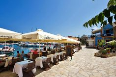 Taverna on the seafront in Fiskardo, Kefalonia, Greece   Top things to see and do in #Kefalonia   Weather2Travel.com #greece #visitgreece #holiday #summer #travel