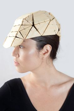 BALSA WOOD HINGED CAP // Photo - Alex Pielak, MUA/Hair – Simone Best, Model – Simona Chvanaite