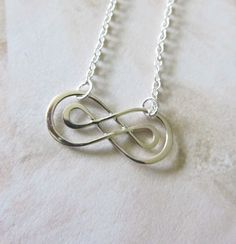 Sterling Silver Necklace with Infinity charm, Minimal Collection, bridesmaid gift, bridal jewelry