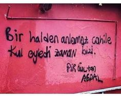Street Graffiti, Street Art, Some Words, Quotable Quotes, Cool Photos, Turkey, Feelings, Sayings, Sultan