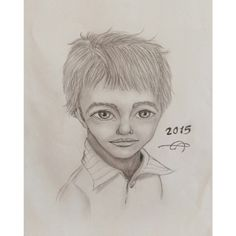 #2015 #cute #boy #drawing by me.. :) #art #Illustrations #hand_drawing #eye #face #kids