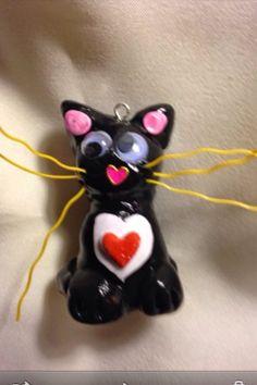 Google eyes kitty cat free shipping on Etsy, $12.00