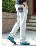 Wholesale Light Grey All-Matching Stripe Pocket Fashion Men Casual Classical Pants 101D-8603-49lg - ClothingLoves.com - Clothingloves.com