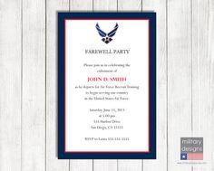 Air Force Farewell Invitation