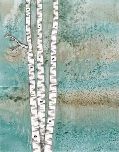 Some beautiful birch trees done by the one & only Erin K Cleary :)