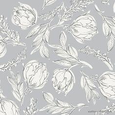 Flower Pattern Design, Surface Pattern Design, Pattern Art, Flower Patterns, Design Patterns, Illustration Blume, Pattern Illustration, Floral Artwork, Floral Prints