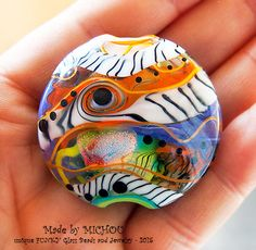 Art Glass  1 focal bead by Michou P. Anderson by michoudesign