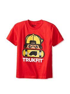 9e71422009c35b TRUKFIT Boy s Peek-A-Boo Tommy Tee (Rojo Red)