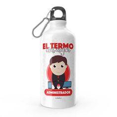 Termo - El termo del mejor administrador, encuentra este producto en nuestra tienda online y personalízalo con un nombre. Water Bottle, Drinks, Carton Box, Store, Crates, Drinking, Beverages, Water Bottles, Drink