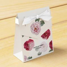 Rustic Country Roses Wedding Favor Box