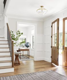 welcoming entryway - design by Emily Henderson Design