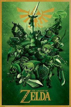 Buy The Legend Of Zelda - Link Maxi Poster online and save! The Legend Of Zelda – Link Maxi Poster Our posters are rolled, wrapped and shipped in poster mailing tubes Some of the characters from the great gam. The Legend Of Zelda, Legend Of Zelda Poster, Video Game Posters, Video Game Art, Video Games, Laura Lee, Final Fantasy, Fantasy Art, Katamari Damacy