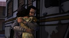 Screenshot from the third episode of The Walking Dead Game, The Long Road Ahead