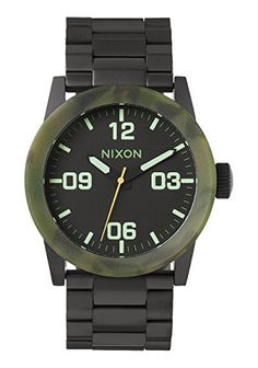 Nixon Men's Private Sterling Silver Watch One Size Matte Black ** Be sure to check out this awesome product.