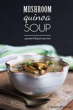 Creamy Coconut Mushroom & Quinoa Soup