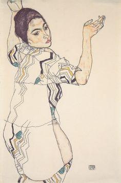 Egon Schiele,Porträt von Friederike Maria Beer, 1914.