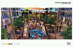 Las Vegas Central Container Park concept