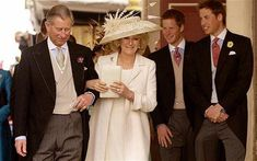 The marriage of Prince Charles and Camilla Parker-Bowles on this day 9th April, 2005 at the Guildhall in Windsor, Berkshire, England