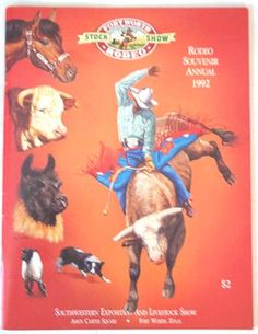 Program 1992 Ft Worth Stock Show Rodeo by aestexas on Etsy, $5.00