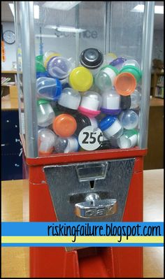 Create classroom vending machine that dispenses poems, riddles, math problems, facts, or anything else you are working on in class