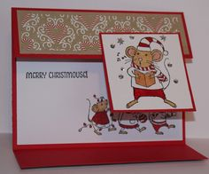 "Stampin"" Up!  Merry Mice stamps"